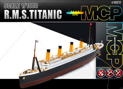 1/1000 R.M.S. TITANIC MCP (Multi Color parts) #14217 ACADEMY HOBBY KITS