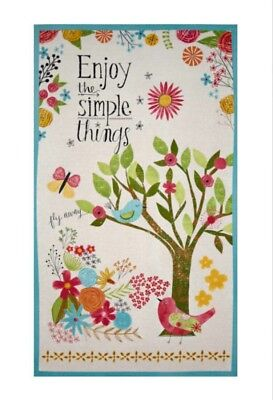 Enjoy The Simple Things Quilt Panel * New * In Stock * Free Post * Gorgeous *