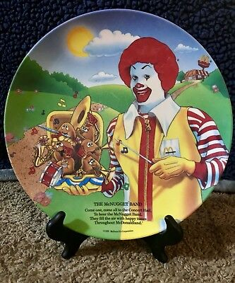 Vintage 1989 McDonald's The McNugget Band Collectors Plate