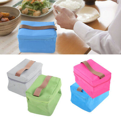 Small Portable Thermal Cooler Insulated Bags Lunch Bag Picnic Carry Tote Pouch