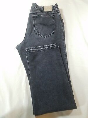 Vintage LEE Mens USA Made Black Classic Straight Jeans Tag Size 36x34 Act 33x33
