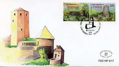 Bosnia & Herzegovina 2017 FDC Castles Europa 2v Set Cover Architecture Stamps