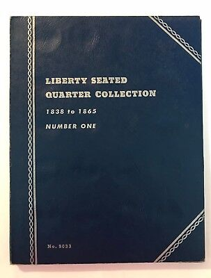 Liberty Seated Quarter (1838-1865) #9033 Coin Folder By Whitman -New Old Stock