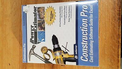 Adams Power Estimating Construction Pro Software Suite For Excel BRAND NEW