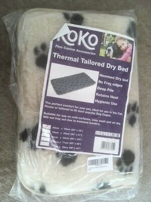 Thermal Tailored Pet / Cat / Dog Bed - Cream 60cm x 45cm