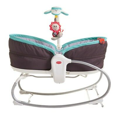 Tiny Love 3 in 1 Rocking Vibrating Bouncy Chair/Moses basket 0-18kgs Turquoise