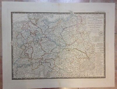 Central Europe Prussia Kingdom Of Poland Dated 1844 By Brue Large Engraved Map
