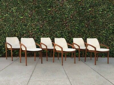 6 Danish Mid Century Modern Carver Rosewood Dining Chairs by Kai Kristiansen