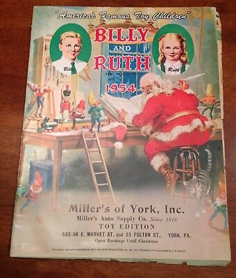 1954 Billy & Ruth Toy catalog York PA Christmas Santa Hubley Lionel Fisher Price