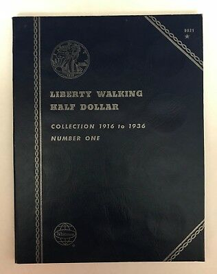 Liberty Walking Half #1 (1916-1936) #9021 Coin Folder By Whitman-New Old Stock