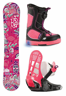 K2 Grom Girl's Snowboard Package 2017 Mens Unisex Deck All Mountain Freestyle