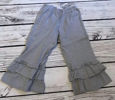 Lolly Wolly Doodle Big Ruffles Capris Gray Size 12