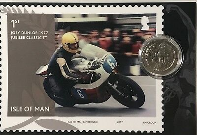 Isle of Man TT Races 50p coin in presentation card Motorcyclist Fathers Day gift