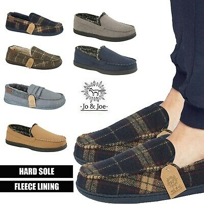Mens Slippers Loafers Slip On Fur Fleece Lined Winter Warm Shoes 7 8 9 10 11 12