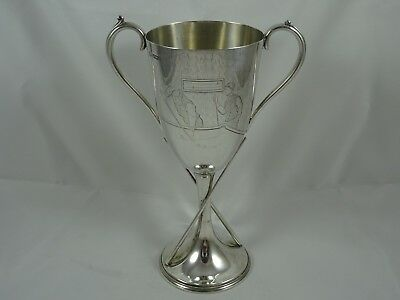 RARE, solid silver SNOOKER / BILLIARDS / POOL TROPHY CUP, 1907, 265gm