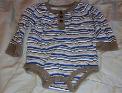 KOALA BABY infant boy 6 month blue and gray long sleeve one piece