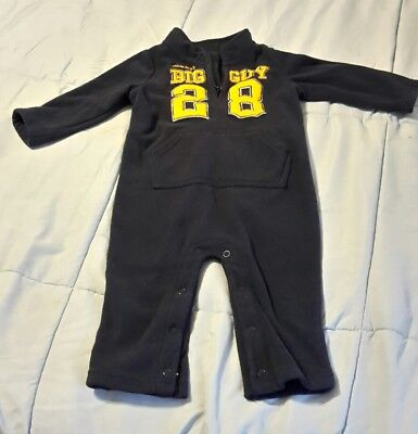 "CARTER'S infant boy 12M ""mommy's big guy 28"" sleeper"