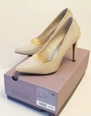f1b4b8b3706a Jennifer Lopez JL Esla Gold Fashion Pumps Heels Dress Shoes Sz 7 JLO for  Kohls
