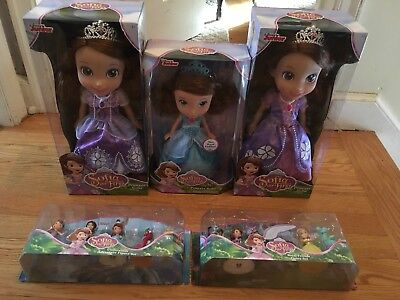 5 NEW Disney Junior Sophia The First Dolls And Figure Sets- Underwater/Royal