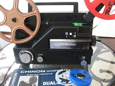 Reg 8mm/Super 8 Vari-Spd  Projector--Rebuilt Film Tested!