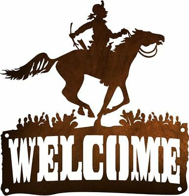 DXF CNC dxf for Plasma Router Vector Cowboy Welcome CS19  Man Cave Home