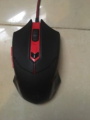 Red dragon (Red) GAIMING MOUSE with braided cable and gold tip