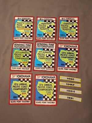 Vintage Sears Point Raceway Patch Lot SCCA/PCRRC (A8)  Free Shipping!