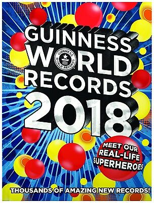 Guinness Book Of World Records 2018 By Guinness Hardcover NEW Edition Book