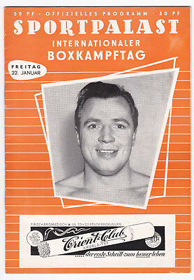 Sportpalast Berlin Internationaler Boxkampftag 1954 Programm Williams Hecht