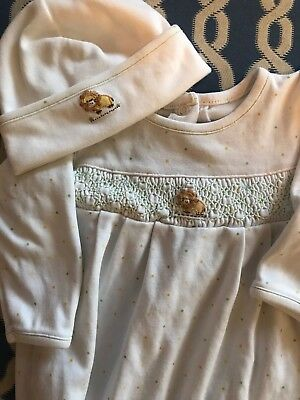 Magnolia Baby Gown Newborn Gown & Hat Smocked Lion Newborn 5 Months $70 Perfect