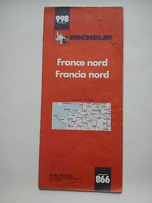 Vintage 1983 1:1,000,000 Michelin Map of North France No.998