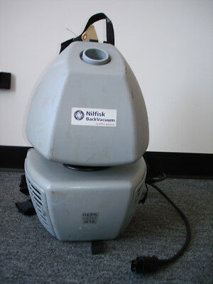 Backpack Vacuum Cleaner By Nilfisk Advance, Hepa H-13, For Parts Or Repair