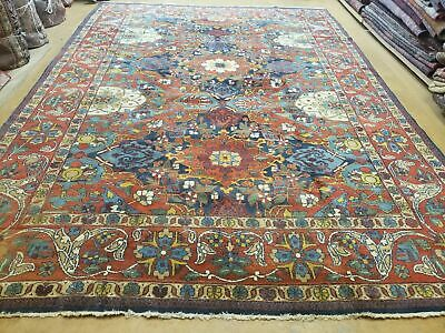 8'X11' Antique Hand Made Fine Persian Mahal Eslimi Wool Rug Carpet Colorful Nice
