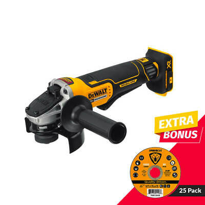 DEWALT DCG413B 20-V 4-1/2 in. Paddle Switch Brushless Angle Grinder (Tool Only)