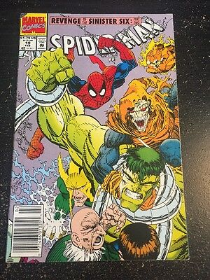 Spider-Man#19 Awesome Condition 8.0(1992) Sinister Six, Hulk Beatdown!!