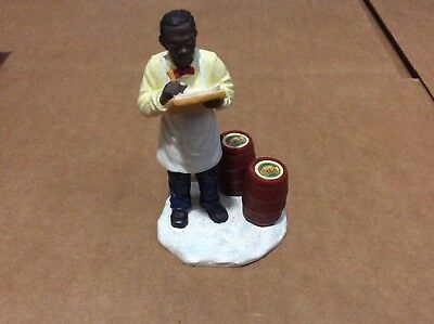 """Used Coca-Cola Town Square Collection Item #64345  """"shopkeeper"""" Figureine"""