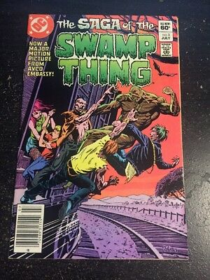 Saga Of The Swamp Thing#3 Awesome Condition 7.5(1982) Yeates Art!!