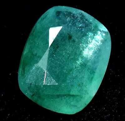 GGL Certified 5.90 Ct Superb Natural Nice Green Color Zambia Emerald Gemstone