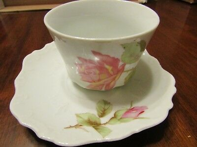 Vintage Cup and Saucer Rose Bud Gold Accents See Desc n Pics (#12)