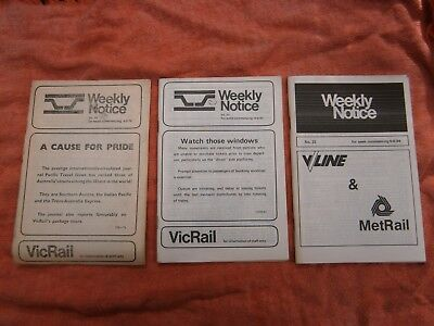 Victorian Railways Weekly Notice's - 3