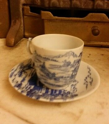 set of chinese old cup and saucer