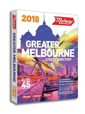 MELWAY 2018 Melbourne Street Directory Edition 45.NEW. FREE POST! Lowest Price!