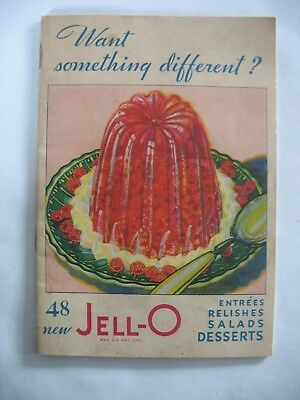 1931JELL-O recipe book 48 entrees relishes salads desserts Art Deco