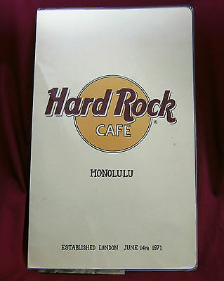 "1989 ""honolulu"" Hard Rock Cafe 3 Pc. Menu"