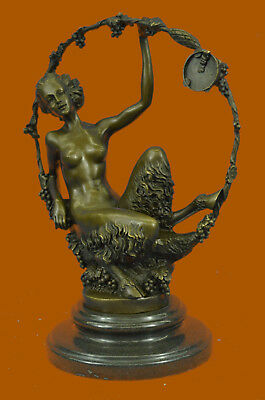 Nude Female Sexi Woman Hot Cast Deco Bronze Sculpture Statue Figurine Figure T