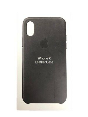 Authentic Apple Leather Case Cover For iPhone X iPhone XS Black MQTD2ZM/A NEW OP