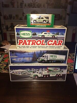 Hess Truck Lot (2002, 1993, & Unknown Year) and 2003 Mini Patrol Car