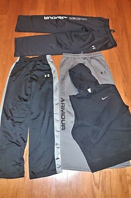 Under Armour Nike athletic pants hoodie lot of 4 youth large