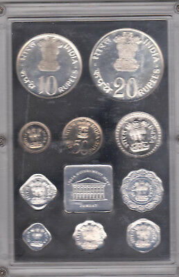 1973 Republic Of India 9 Coin Prrof Set-India Government Mint-Bombay