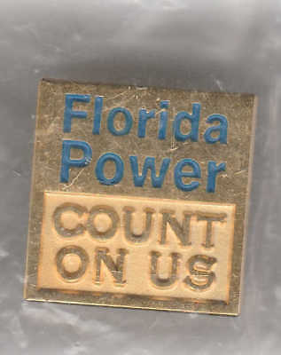 *Defunct FLORIDA POWER CORPORATION Count On Us Lapel, Vest or Hat Pin* Unopened*